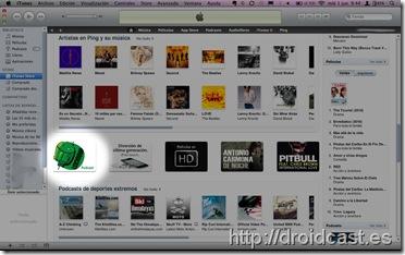 Droidcast en portada de iTunes