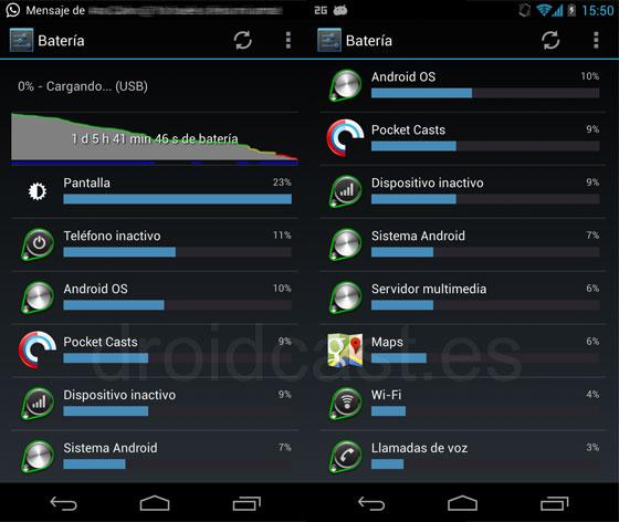 Consumo Nexus 4